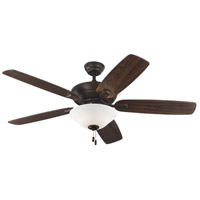 Colony Max Plus 52 inch Roman Bronze with Bronze Blades Indoor-Outdoor Ceiling Fan in Matte Opal