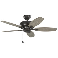 Monte Carlo Fans 5CQM44AGP Centro Max II 44 inch Aged Pewter with Light Grey Weathered Oak Blades Indoor Ceiling Fan
