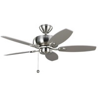Centro Max II 44 inch Brushed Steel with Silver Blades Ceiling Fan in Silver and American Walnut