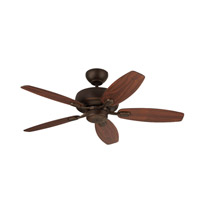 Monte Carlo Fans 5CQM44RB Centro Max Ii 44 inch Roman Bronze with Bronze Blades Ceiling Fan in Bronze and American Walnut