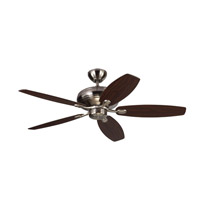 Centro Max 52 inch Brushed Steel with Silver Blades Ceiling Fan in Silver and American Walnut