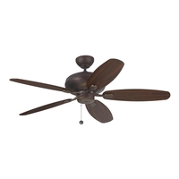 Centro Max 52 inch Roman Bronze with Bronze and American Walnut Blades Ceiling Fan