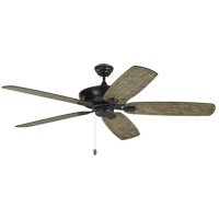 Monte Carlo Fans 5CSM60AGP Colony Super Max 60 inch Aged Pewter with Light Grey Weathered Oak Blades Ceiling Fan