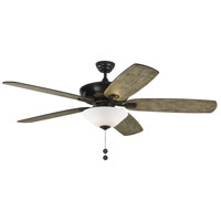 Colony Super Max Plus 60 inch Aged Pewter with Light Grey Weathered Oak Blades Ceiling Fan