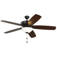 Monte Carlo Fans 5CSM60MBKD-V1 Colony Super Max Plus 60 inch Midnight Black and Matte White Glass with Midnight Black Blades Indoor-Outdoor Ceiling Fan