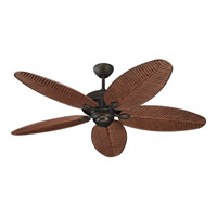 Cruise 52 inch Roman Bronze with American Walnut ABS w/Grain Palm Blades Outdoor Ceiling Fan