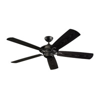 Monte Carlo Fans 5CY60BK Cyclone 60 inch Matte Black with Matte Black ABS with Grain Blades Outdoor Ceiling Fan photo thumbnail