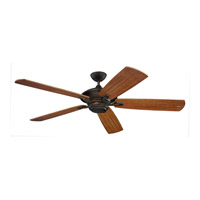 Cyclone 60 inch Roman Bronze with American Walnut ABS with Grain Blades Outdoor Ceiling Fan
