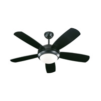 Monte Carlo Fans 5DI44BKD Discus II 44 inch Matte Black Ceiling Fan in 1, Matte Black and Matte Opal, Matte Opal photo thumbnail