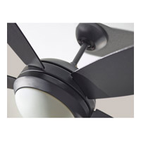 Monte Carlo Fans 5DI44BKD Discus II 44 inch Matte Black Ceiling Fan in 1, Matte Black and Matte Opal, Matte Opal alternative photo thumbnail