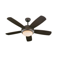 Monte Carlo Fan Company Discus 1 Light Fan in Roman Bronze 5DI44RBD