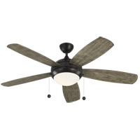 Monte Carlo Fans 5DI52AGPD Discus 52 inch Aged Pewter with Light Grey Weathered Oak Blades Ceiling Fan
