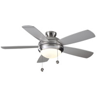 Monte Carlo Fans 5DI52BSD-L Discus 52 inch Brushed Steel with Silver Blades Ceiling Fan in 1, Matte Opal photo thumbnail
