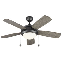 Monte Carlo Fans 5DIC44AGPD-V1 Discus Classic II 44 inch Aged Pewter with Light Grey Weathered Oak Blades Indoor Ceiling Fan photo thumbnail