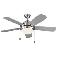Monte Carlo Fans 5DIC44BSD-V1 Discus Classic Ii 44 inch Brushed Steel with Silver and American Walnut Blades Indoor Ceiling Fan