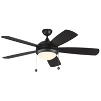 Monte Carlo Fans 5DIC52BKD Discus Classic 52 inch Matte Black with Black Blades Indoor Ceiling Fan