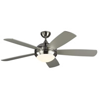 Monte Carlo Fans 5DIC52BSD-V1 Discus Classic 52 inch Brushed Steel with Silver and American Walnut Blades Indoor Ceiling Fan