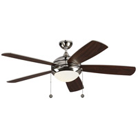 Monte Carlo Fans 5DIC52PND-V1 Discus Classic 52 inch Polished Nickel with Silver and American Walnut Blades Indoor Ceiling Fan