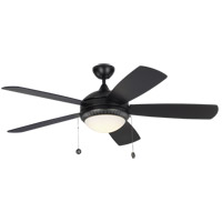 Monte Carlo Fans 5DIO52BKD Discus Ornate 52 inch Matte Black with Black Blades Ceiling Fan