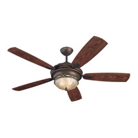 Drawing Room 56 inch Roman Bronze with Walnut ABS with Grain Blades Outdoor Ceiling Fan