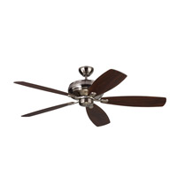 Embassy Max 60 inch Brushed Steel with Silver and American Walnut Blades Ceiling Fan
