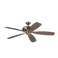 Embassy Max 60 inch Polished Nickel with Silver and American Walnut Blades Ceiling Fan