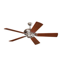 Grand Prix 60 inch Brushed Steel with Mahogany Blades Ceiling Fan