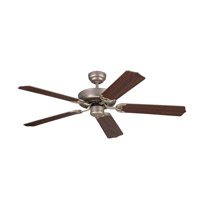 Homeowner Max 52 inch Brushed Pewter with Silver and American Walnut Blades Ceiling Fan