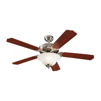 Monte Carlo Fan Company Homeowner Max Plus 2 Light Fan in Brushed Steel 5HM52BSD photo thumbnail