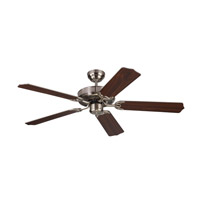 Homeowner Max 52 inch Brushed Steel with Silver and American Walnut Blades Ceiling Fan