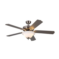 Homeowner Max Plus 52 inch Brushed Steel with Silver Blades Ceiling Fan in Frosted with White Paint Inside
