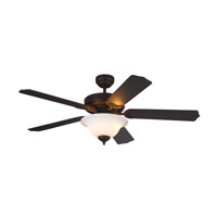Homeowner Max Plus 52 inch Roman Bronze with Bronze Blades Ceiling Fan in Frosted with White Paint Inside
