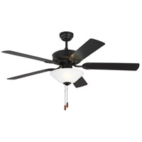 Haven 52 inch Matte Black with Black Blades Indoor Ceiling Fan