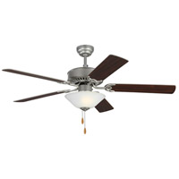 Monte Carlo Fans 5HV52BPD Haven 52 inch Brushed Pewter with Silver and American Walnut Blades Indoor Ceiling Fan
