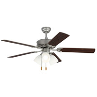 Haven 52 inch Brushed Pewter with Silver and American Walnut Blades Indoor Ceiling Fan