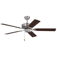 Monte Carlo Fans 5HV52BS Haven 52 inch Brushed Steel with Silver and American Walnut Blades Indoor Ceiling Fan