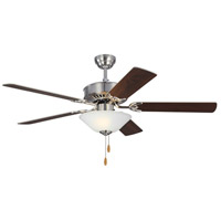 Haven 52 inch Brushed Steel with Silver and American Walnut Blades Indoor Ceiling Fan