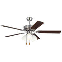 Monte Carlo Fans 5HV52BSF Haven 52 inch Brushed Steel with Silver and American Walnut Blades Indoor Ceiling Fan