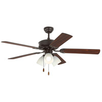 Haven 52 inch Bronze with Bronze and American Walnut Blades Indoor Ceiling Fan