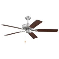 Monte Carlo Fans 5HV52CH Haven 52 inch Chrome with Silver and American Walnut Blades Indoor Ceiling Fan