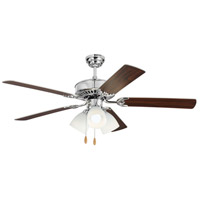 Haven 52 inch Chrome with Silver and American Walnut Blades Indoor Ceiling Fan