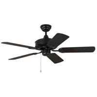 Haven 44 inch Matte Black with Black ABS Blades Outdoor Ceiling Fan