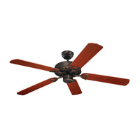 Ornate 52 inch Roman Bronze with Teak Blades Fan