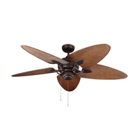 Peninsula 56 inch Roman Bronze with American Walnut Blades Outdoor Ceiling Fan