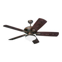 The Shores 54 inch Roman Bronze with Roman Bronze ABS with Grain Blades Outdoor Ceiling Fan