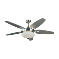 Monte Carlo Fan Company Solaire 3 Light Fan in Brushed Steel 5SQR52BSD photo thumbnail