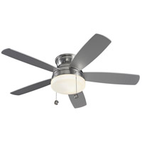 Monte Carlo Fans 5TV52BSD-V1 Traverse 52 inch Brushed Steel and Matte Opal with Silver Blades Indoor Ceiling Fan
