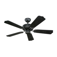 Weatherford II 42 inch Matte Black - Powder Coated with Matte Black ABS w/ Grain Blades Outdoor Ceiling Fan in Matte Black (Powder Coated)