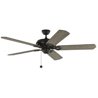 York 60 inch Aged Pewter with Light Grey Weathered Oak Blades Indoor Ceiling Fan
