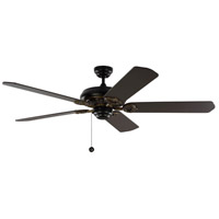 York 60 inch Matte Black with Black Blades Indoor Ceiling Fan